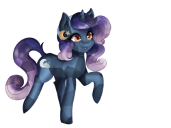 Size: 1024x768 | Tagged: safe, artist:akemiarts1, oc, oc only, oc:moon cradle, crystal pony, pony, unicorn, cute, female, headband, mare, ombre hair, simple background, solo, transparent background