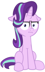 Size: 780x1250 | Tagged: artist:spellboundcanvas, floppy ears, i mean i see, marks for effort, meme, safe, simple background, solo, spoiler:s08e12, starlight glimmer, transparent background, vector, wat