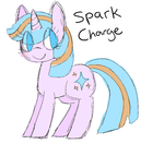 Size: 722x635 | Tagged: safe, artist:rose_stars, oc, oc only, oc:spark charge, pony, unicorn, simple background
