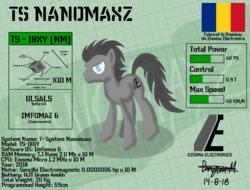 Size: 2048x1556   Tagged: safe, artist:wvdr220dr, oc, oc:nanomaxz, pony, robot, robot pony, imfomaz os, nanobots, romania, science fiction