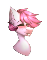 Size: 2011x2569 | Tagged: artist:m-miamo, bust, eyes closed, male, oc, pony, portrait, safe, simple background, solo, stallion, tongue out, transparent background