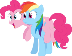 Size: 3586x2800 | Tagged: artist:porygon2z, pinkie pie, rainbow dash, safe, simple background, the super speedy cider squeezy 6000, transparent background, vector