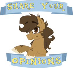 Size: 2000x1873   Tagged: safe, artist:binkyt11, derpibooru exclusive, oc, oc only, oc:binky, earth pony, hybrid, pony, zony, atg 2018, colored hooves, female, freckles, hoof fluff, hooves, inkscape, lineless, looking at you, mare, newbie artist training grounds, old banner, opinion, positive ponies, simple background, solo, text, transparent background, unshorn fetlocks, vector