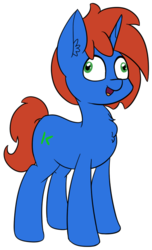 Size: 436x717 | Tagged: artist:seafooddinner, derp, ear fluff, male, oc, oc:cyberpon3, oc only, pony, safe, simple background, solo, stallion, sticker, telegram sticker, transparent background, unicorn