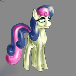 Size: 2900x2900 | Tagged: artist:dukevonkessel, bon bon, earth pony, female, mare, safe, simple background, smiling, solo, sweetie drops