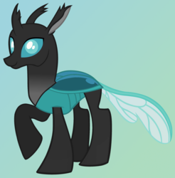 Size: 1980x2013 | Tagged: artist:joe, artist:solar heartstrings, changedling, changedling oc, changeling, changeling oc, oc, oc:steel crescent, recolor, safe, simple background, solo, vector
