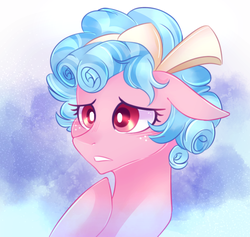 Size: 843x800 | Tagged: artist:waterz-colrxz, cozy glow, female, filly, freckles, hair ribbon, pegasus, pony, safe