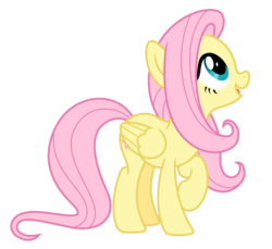 Size: 3613x3308 | Tagged: safe, artist:estories, fluttershy, pegasus, pony, cute, female, high res, looking up, mare, open mouth, show accurate, shyabetes, simple background, smiling, solo, transparent background, vector, wings