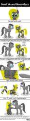 Size: 700x2814   Tagged: safe, artist:wvdr220dr, oc, pony, robot, robot pony, couple, imfomaz os, science fiction