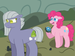 Size: 2048x1536 | Tagged: angry, artist:kindheart525, artist:lazyy-llama, earth pony, geode, homophobia, kindverse, limestone pie, pie sisters, pinkie pie, sad, safe, siblings, sisters, story included