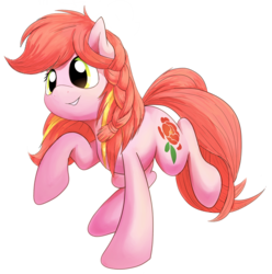 Size: 2376x2399 | Tagged: artist:thesamstudio, background removed, braid, china ponycon, earth pony, female, mare, mascot, oc, oc only, oc:peony flair, pony, prance and party, safe, simple background, solo, transparent background