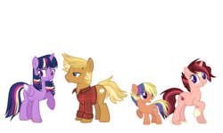 Size: 5000x3000 | Tagged: alicorn, alternate hair color, artist:detoxx-retoxx, base used, colored wings, colored wingtips, colt, earth pony, family, female, half-siblings, male, mare, oc, oc:estella, oc:wednesday paper, offspring, older, older twilight, parent:quibble pants, parents:quibblelight, parents:twiburst, parent:sunburst, parent:twilight sparkle, pony, quibblelight, quibble pants, rainbow power, safe, shipping, simple background, star (coat marking), straight, transparent background, twilight sparkle, twilight sparkle (alicorn), unicorn