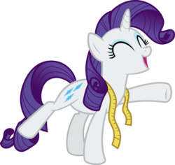 Size: 3172x3000 | Tagged: artist:sollace, brava!, cute, eyes closed, female, happy, horse play, mare, measuring tape, pony, raribetes, rarity, safe, simple background, solo, spoiler:s08e07, .svg available, transparent background, unicorn, vector