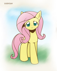 Size: 860x1080 | Tagged: safe, artist:howxu, fluttershy, pegasus, pony, cropped, cute, female, looking at you, mare, shyabetes, solo