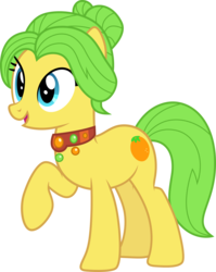 Size: 3000x3763 | Tagged: artist:cloudyglow, earth pony, female, mare, mosely orange, pony, rule 63, safe, simple background, smiling, solo, transparent background, uncle orange