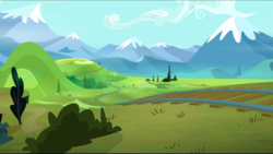 Size: 1440x814 | Tagged: crystal mountains, mountain, mountain range, no pony, party pooped, safe, scenery, screencap, train tracks