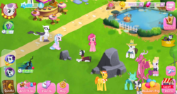Size: 1024x543 | Tagged: safe, ballista, bon bon, carrot cake, chancellor neighsay, coloratura, hondo flanks, hoofer steps, mean rarity, natalya, pinkie pie, queen chrysalis, rarity, silverstream, sweetie belle, sweetie drops, twilight sparkle, zecora, changedling, changeling, classical hippogriff, dragon, earth pony, griffon, hippogriff, pony, unicorn, the mean 6, clone, dragoness, female, game screencap, gameloft, gameloft shenanigans, heresy, hilarious in hindsight, male, mare, out of character, stallion