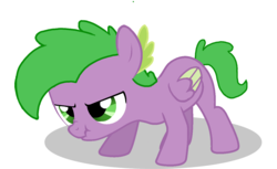 Size: 1280x784 | Tagged: safe, spike, pegasus, pony, angry, ponified, ponified spike, scrunchy face, species swap, vector