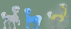 Size: 1600x647   Tagged: safe, artist:ganashiashaka, trixie, oc, oc:aegis frost, oc:silver leaf, pony, unicorn, armor, female, guardixie, male, offspring, parent:royal guard, parent:trixie, parents:guardixie, royal guard, shipping, stallion, straight