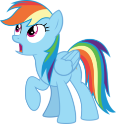 Size: 360x385 | Tagged: artist:oatscene, pony, princess twilight sparkle (episode), rainbow dash, safe, simple background, solo, .svg available, transparent background, vector