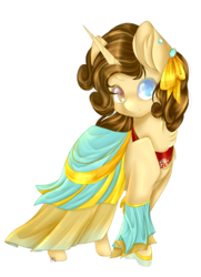 Size: 2017x2792 | Tagged: safe, artist:ether-akari, oc, oc only, oc:coffee cream, pony, unicorn, clothes, commission, cute, dress, female, gala dress, simple background, solo, transparent background