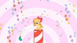 Size: 1920x1080 | Tagged: artist:ponies in reverse, candy, candy cane, food, oc, oc:sally candy, safe