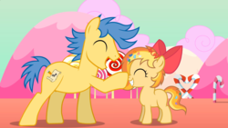 Size: 1920x1080 | Tagged: artist:ponies in reverse, boop, oc, oc only, oc:sally candy, oc:written shape, safe