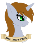 Size: 2056x2505 | Tagged: safe, artist:kota, oc, oc only, oc:littlepip, pony, unicorn, fallout equestria, bust, fanfic, fanfic art, female, horn, mare, portrait, profile, simple background, solo, text, transparent background