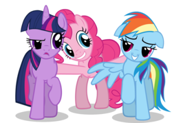 Size: 1776x1275 | Tagged: edit, episode unknown, female, floppy ears, lesbian, pinkiedash, pinkie pie, polyamory, rainbow dash, safe, shipping, simple background, transparent background, twidash, twidashpie, twilight sparkle, twinkie, vector