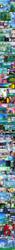 Size: 997x16615 | Tagged: safe, artist:mauroz, applejack, fluttershy, pinkie pie, princess celestia, princess luna, rainbow dash, rarity, spike, twilight sparkle, human, comic:la magia de la amistad, broly, comic, converse, humanized, mane six, ryona, shoes