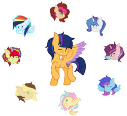 Size: 1024x933 | Tagged: artist:musicfreak25, group, offspring, parent:applejack, parent:caramel, parent:cheese sandwich, parent:fancypants, parent:flash sentry, parent:fluttershy, parent:pinkie pie, parent:rainbow dash, parent:rarity, parents:carajack, parents:cheesepie, parents:cometshimmer, parents:flashlight, parent:soarin', parents:raripants, parents:soarindash, parents:starburst, parent:starlight glimmer, parents:thundershy, parent:sunburst, parent:thunderlane, parent:twilight sparkle, safe, simple background, transparent background