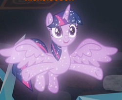 Size: 626x512 | Tagged: safe, screencap, tree of harmony, alicorn, what lies beneath, cropped, cute, female, implied twilight sparkle, mare, smiling, sparkles, spread wings, treeabetes, treelight sparkle, treelightbetes, wings