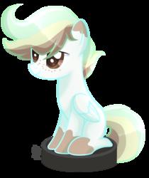 Size: 1700x2021 | Tagged: safe, artist:badumsquish-edits, artist:sugaryicecreammlp, oc, pegasus, pony, base used, behaving like a cat, male, ponies riding roombas, riding, roomba, simple background, solo, stallion, transparent background