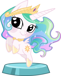 Size: 2617x3242 | Tagged: safe, artist:phucknuckl, princess celestia, alicorn, pony, my little pocket ponies, cute, cutelestia, daaaaaaaaaaaw, female, mare, pocket ponies, rearing, simple background, smiling, solo, transparent background