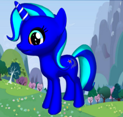 Size: 662x628 | Tagged: 3d, alternate universe, artificial cosmic god, concept, cosmic power, cutie mark, galixie the lunar lunacy, goddess, headcanon, pony maker, safe, solo, transformation, trixie, unicorn