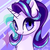 Size: 624x624 | Tagged: safe, artist:rikadiane, starlight glimmer, pony, unicorn, bust, cute, cutie mark background, female, glimmerbetes, looking at you, mare, solo
