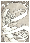 Size: 2320x3282 | Tagged: safe, artist:cutepencilcase, twilight sparkle, pony, unicorn, female, mare, monochrome, smiling, solo, traditional art