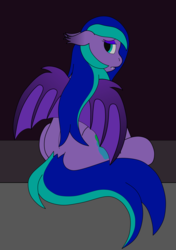 Size: 5649x8017 | Tagged: absurd res, artist:northern-frost, bat pony, looking at you, oc, oc:ivy mist, safe, sitting