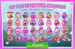 Size: 798x528 | Tagged: bonus, daily login, female, friendship student, gameloft, gem, kettle corn, lilac links, male, mare, official, peppermint goldylinks, pony, rainbow blaze, safe, stallion, the cart before the ponies