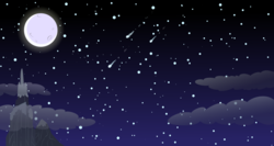 Size: 15360x8160 | Tagged: absurd res, artist:proenix, beautiful, cloud, dragon mountain, moon, mountain, night, no pony, peak, resource, safe, scenery, shooting star, sky, stars, vector