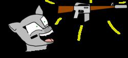 Size: 3196x1468 | Tagged: safe, artist:not-immortal, oc, oc only, oc:sierra summit, original species, plane pony, pony, a-10 thunderbolt ii, ar-10, descriptive noise, gun, plane, simple background, solo, transparent background, weapon