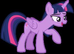 Size: 5512x4040 | Tagged: safe, artist:andoanimalia, twilight sparkle, alicorn, pony, horse play, absurd resolution, female, lidded eyes, open mouth, raised hoof, simple background, solo, transparent background, twilight sparkle (alicorn), vector