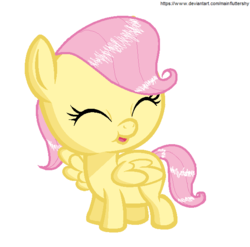 Size: 586x579 | Tagged: safe, artist:fiamango, artist:mainfluttershy, fluttershy, pony, baby, baby pony, babyshy, base used, cute, foal, happy, ms paint, shyabetes, smiling