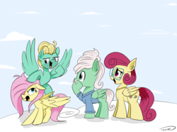 Size: 2335x1733 | Tagged: artist:taurson, atg 2018, family, female, fluttershy, fluttershy is not amused, male, mare, mr. shy, mrs. shy, newbie artist training grounds, pegasus, pony, safe, stallion, unamused, zephyr breeze