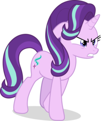 Size: 5454x6528   Tagged: safe, artist:shutterflyeqd, starlight glimmer, pony, unicorn, a matter of principals, absurd resolution, angry, female, mare, simple background, solo, starlight is not amused, transparent background, unamused, vector