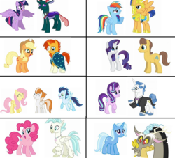 Size: 739x671 | Tagged: alicorn, appleburst, applejack, artist:rock-mint-swirl, caramel, changedling, changeling, crack shipping, discord, fancyglimmer, fancypants, female, fire streak, flashdash, flash sentry, fluttershy, flutterstreak, male, pharynx, pinkie pie, prince pharynx, rainbow dash, rarimel, rarity, safe, shipping, soarin', soarinshy, soarinstreak, starlight glimmer, straight, sunburst, terramar, terrapie, trixcord, trixie, twilight sparkle, twilight sparkle (alicorn), twirynx