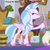 Size: 567x567 | Tagged: safe, edit, edited screencap, screencap, silverstream, the hearth's warming club, bucket, cropped, cute, diastreamies, hearth's warming lights, jewelry, mop, necklace, school of friendship, that hippogriff sure does love stairs