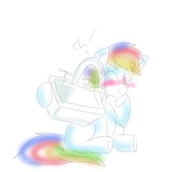 Size: 4800x4800 | Tagged: safe, artist:organizednubmarilyn, rainbow dash, absurd resolution, blushing, cargo ship, kissing, kitchen sink, rainbowsink, shipping