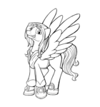 Size: 1242x1332 | Tagged: safe, artist:riverfox237, oc, pegasus, pony, commission, lineart, peppertop, thedragontutor