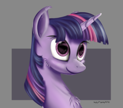 Size: 5286x4654 | Tagged: absurd res, artist:hoofwaffe, cheek fluff, chest fluff, ear fluff, female, mare, pony, safe, smiling, solo, twilight sparkle